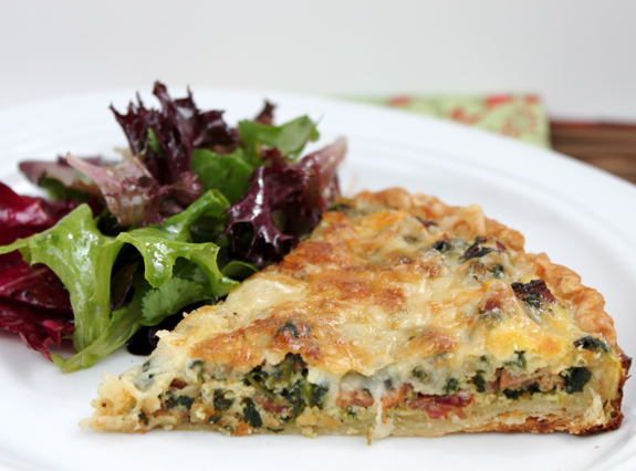 Spinach, Mushroom  Bacon Quiche « New Recipes For Life